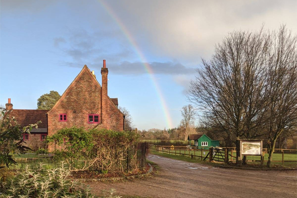 Rainbow at Chiltern Open Air Museum