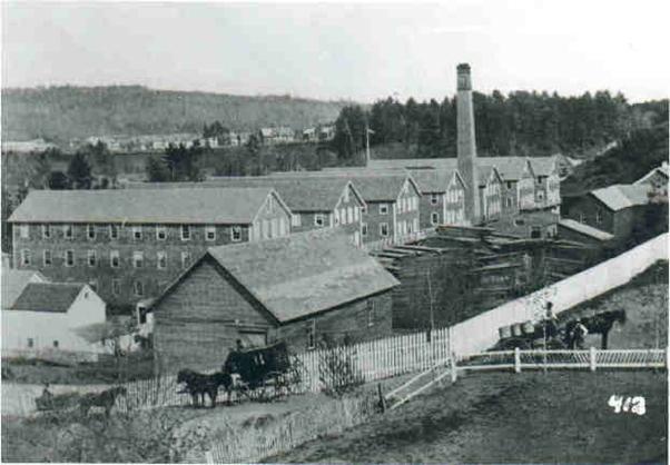 The Estey factory in Brattleboro, Vermont