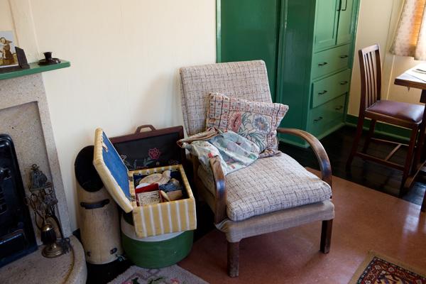 Living room of 1940s prefab