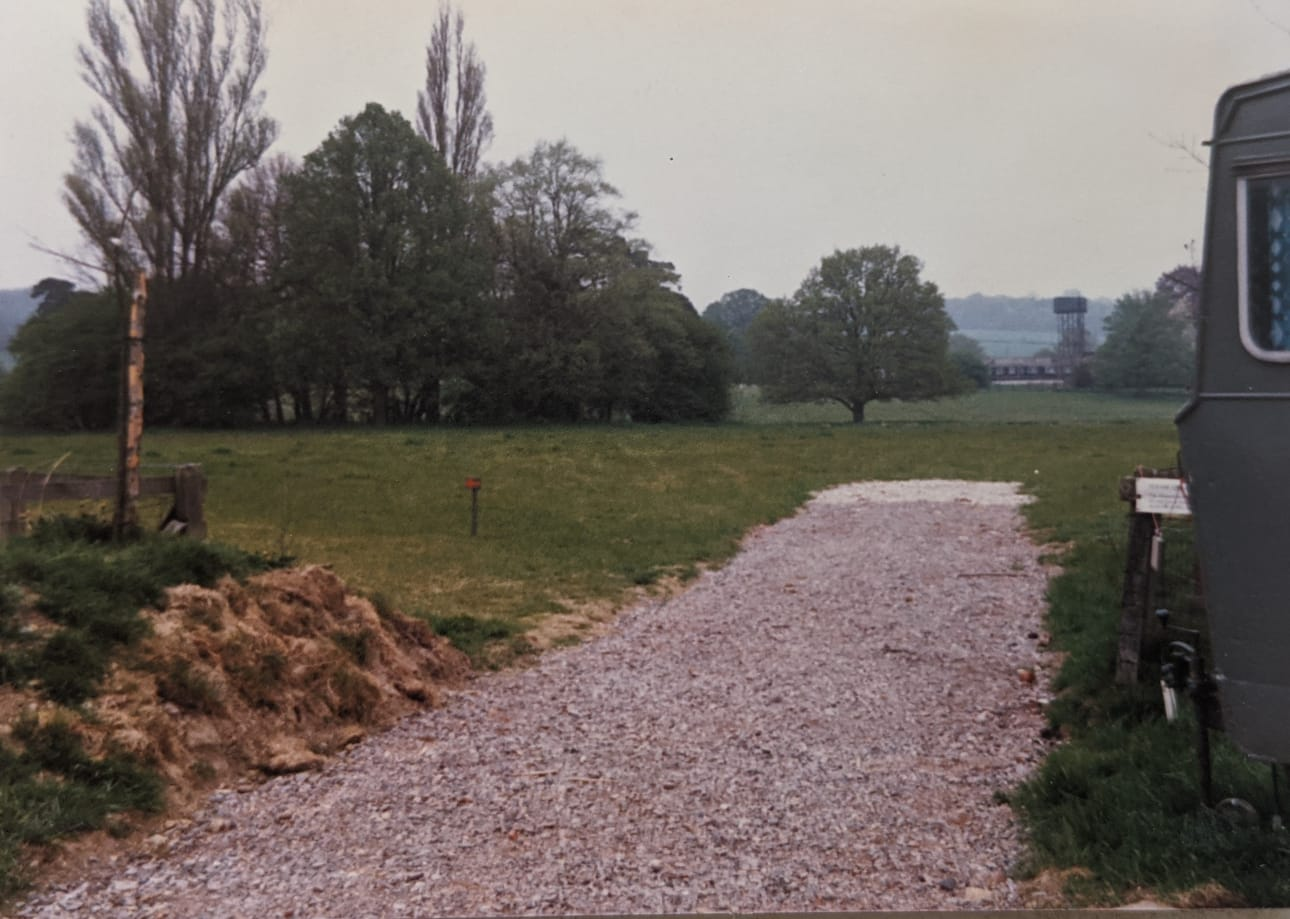 Chiltern Open Air Museum carpark in 1981.